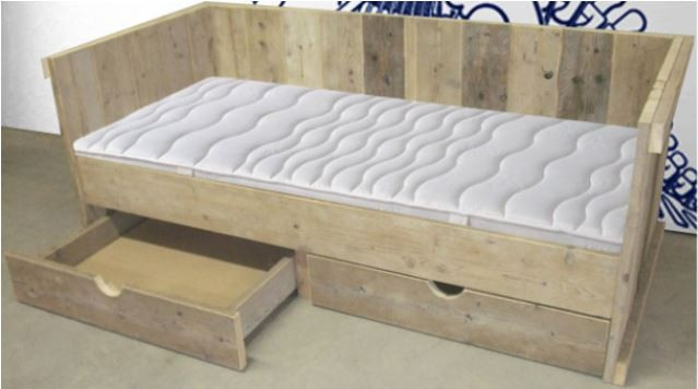Steigerhout bed modern steigerhout bedden bed steigerhout