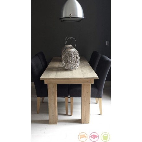 Steigerhouten tafel Floris