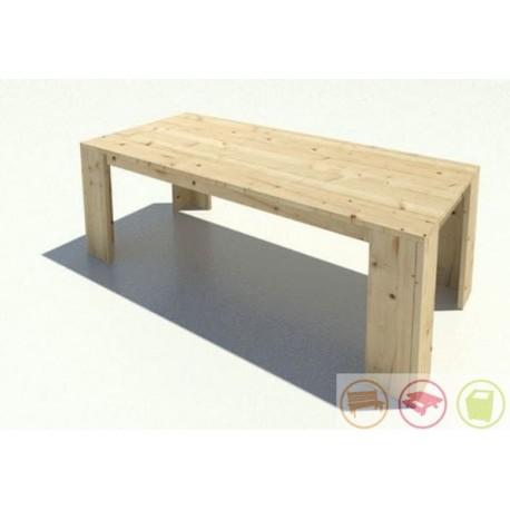 Steigerhouten tafel Fleur