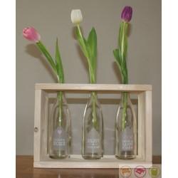 Steigerhout woondecor glas Welkom Home