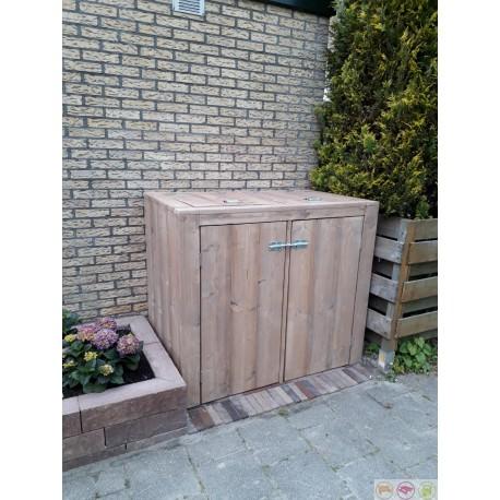 Steigerhouten Container Ombouw