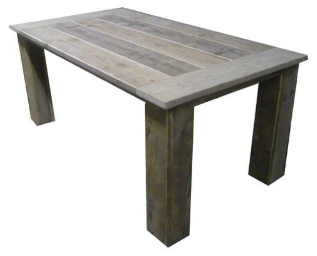 Steigerhouten tafel liam trendy met hout