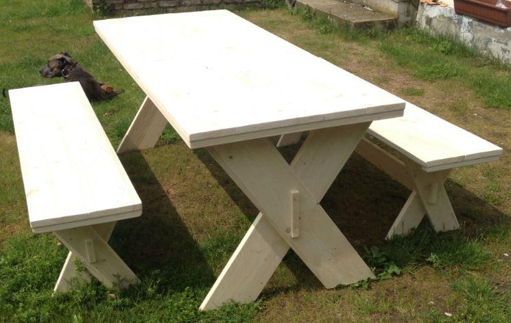 Steigerhout-picknicktafel