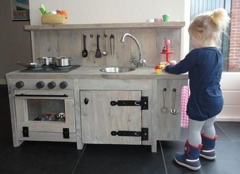 Steigerhout kinderopvang meubel